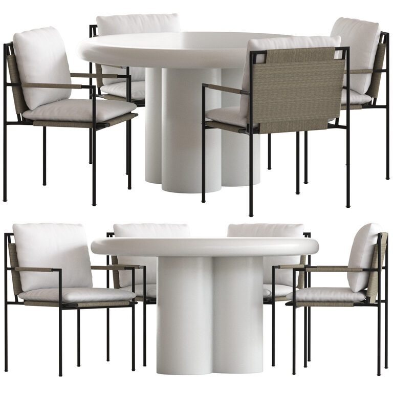 Coco Republic Malmo Outdoor Dining Chair And Anchorage Table 3d Model Download 3d Model Coco Republic Malmo Outdoor Dining Chair And Anchorage Table 111884 3dbaza Com