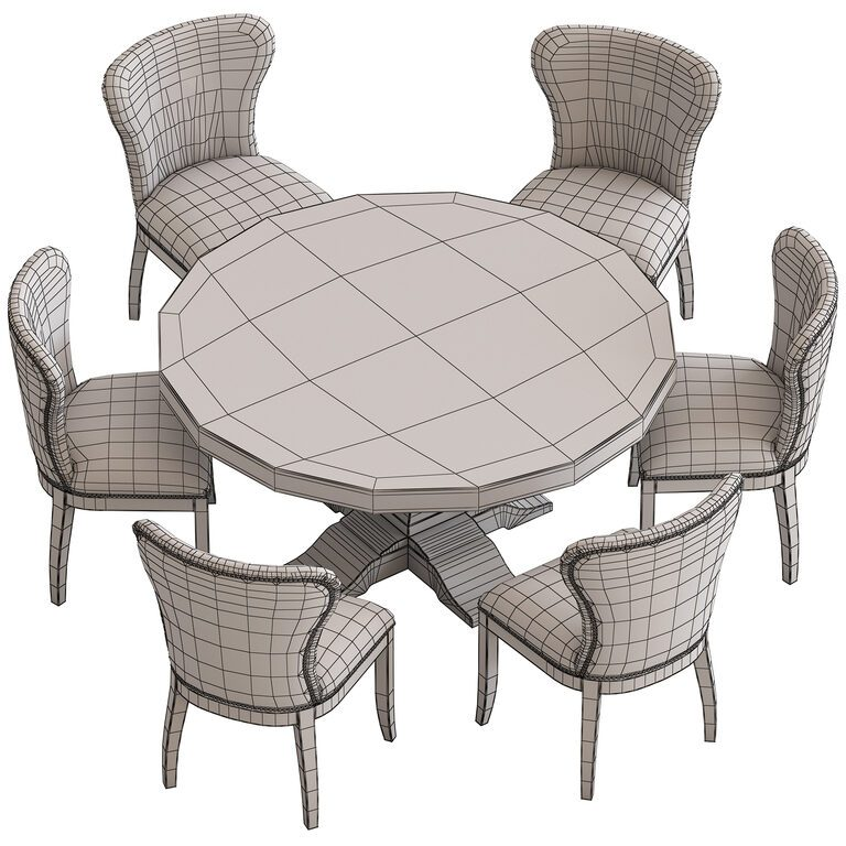 Coco Republic Irving Round Dinning Table And Coco Republic Richmond Leather Chair 3d Model Download 3d Model Coco Republic Irving Round Dinning Table And Coco Republic Richmond Leather Chair 101958 3dbaza Com