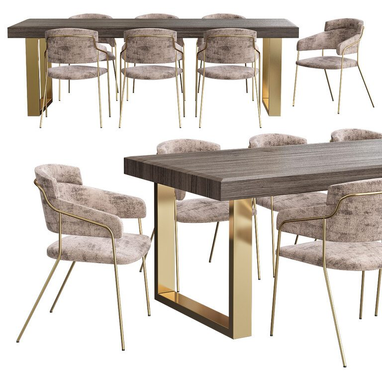 Contemporary Dining Table Set 125784, Designer Modern Dining Room Chairs