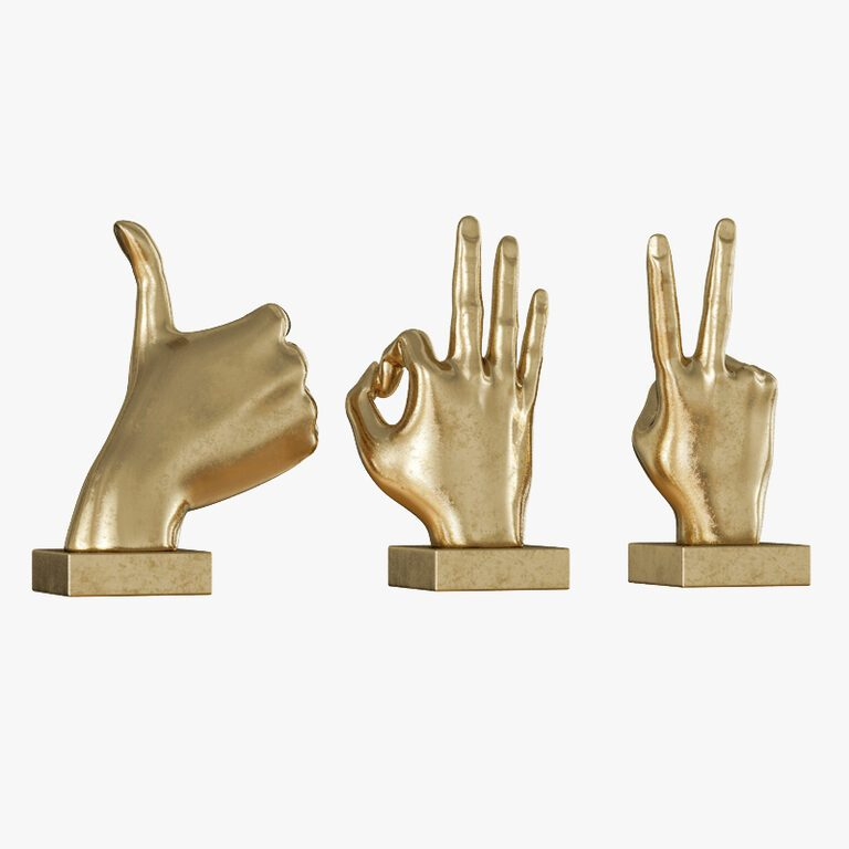 Metallic Hand 3 Piece Figurine Set 3d Model Download 3d Model Metallic Hand 3 Piece Figurine Set 20820 3dbaza Com