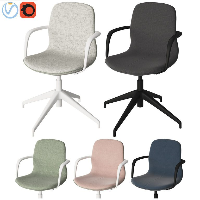 3d Model Office Chair Ikea, White Computer Chairs Ikea
